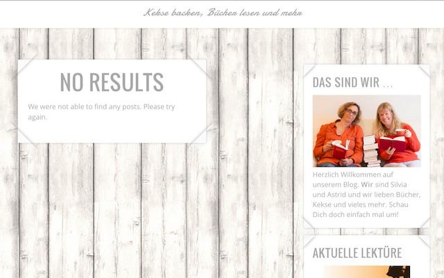 No results auf dem Blog