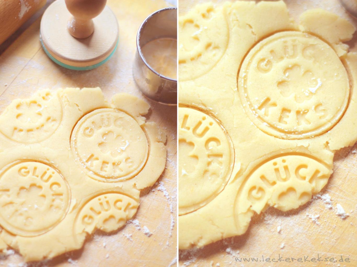 Stempeln der Kekse