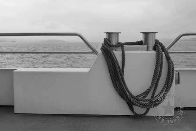 Schifffahrt bei Regen