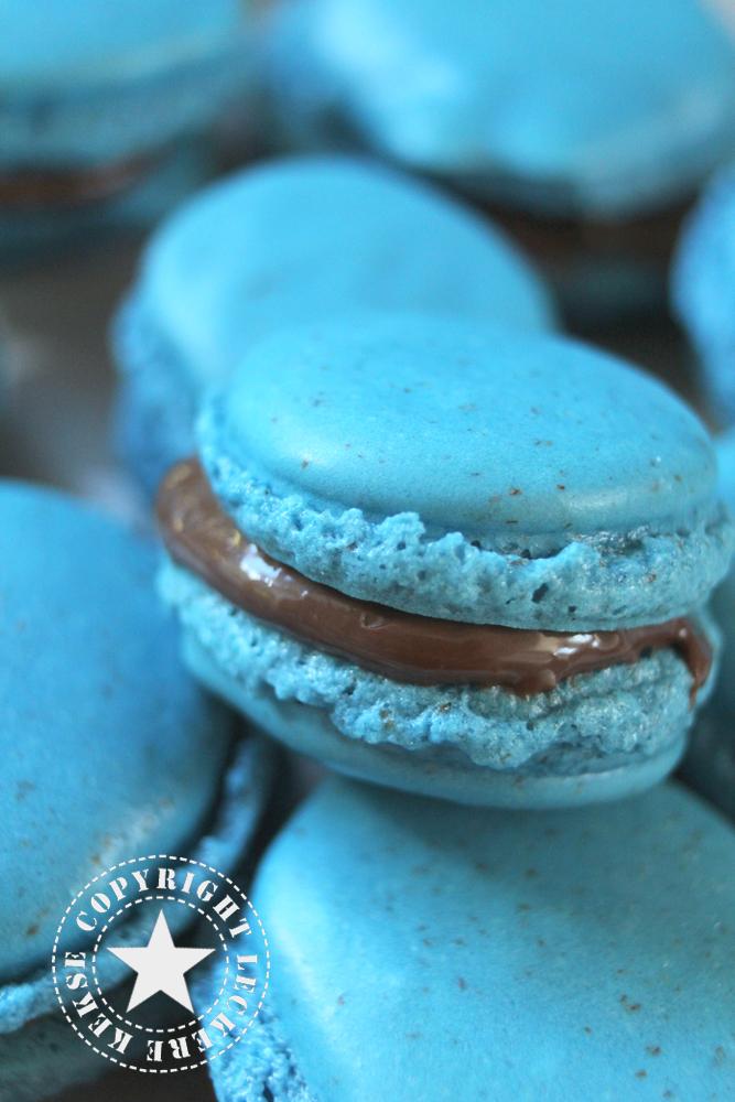 Macarons in Blau