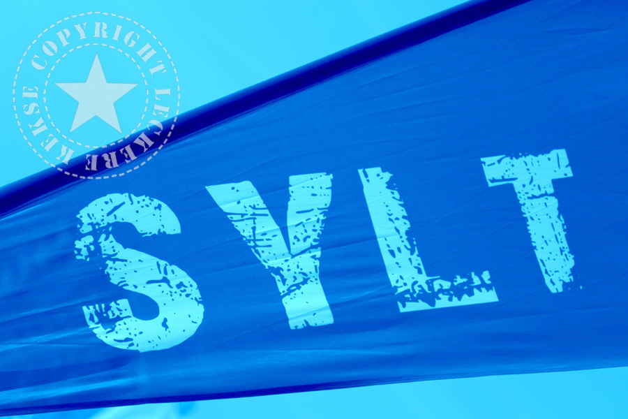 Sylt-Schrift-fahne