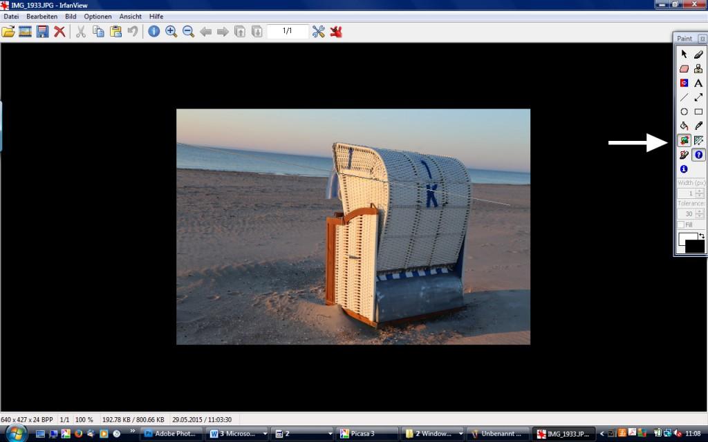 Horizont begradigen Picasa Irfanview leckerekekse-blog