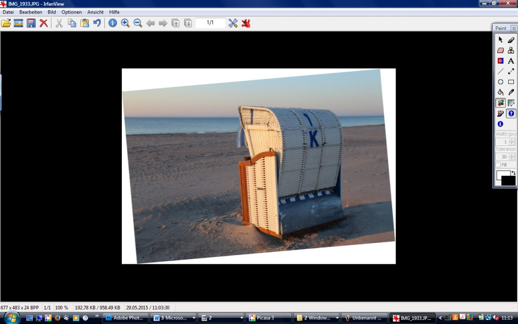 Horizont begradigen Tutorial Meer Strandkorb leckerekekse_blog