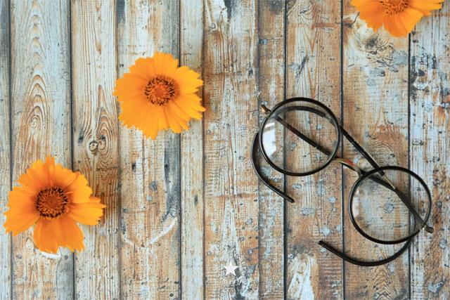 Brille-Blumen