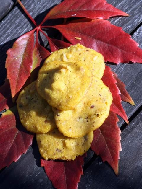 Kekse Herbst backen Kürbis