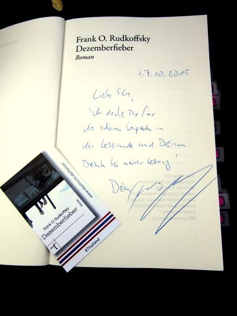 Dezemberfieber Autogramm Frank O. Rudkoffsky