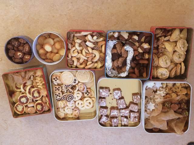 leckere Kekse Dosen Vielfalt