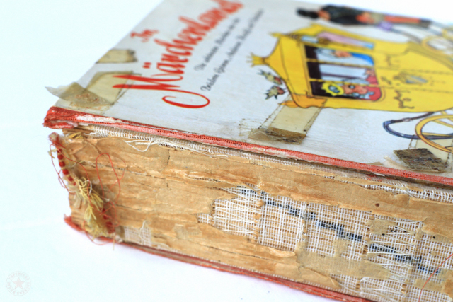 Buch ohne Buchrücken