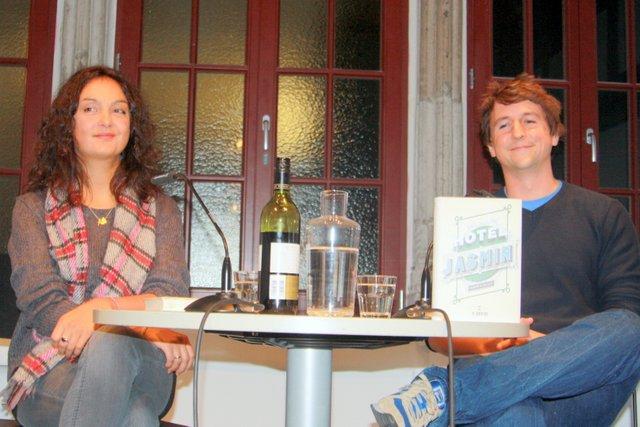 Jasmin Ramadn Lesung Literaturhaus Köln mit Till Strasser