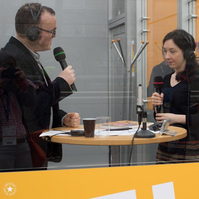 Aurelia Bastian auf der Leipziger Buchmesse