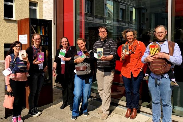 Bücherschrank Projekt: die Crew, Literaturbarcamp Bonn