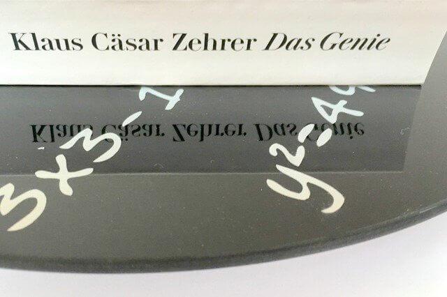 Klaus Cäsar Zehrer: Das Genie, Rezension, Diogenes Verlag