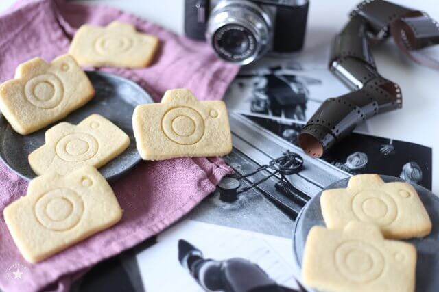 Kekse in Kameraform sind ein Hingucker