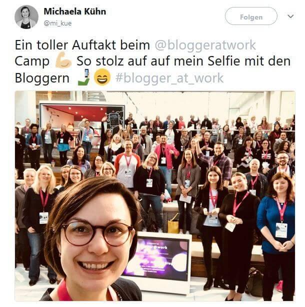 Selfie von Michela Kuehn beim Bloggercamp