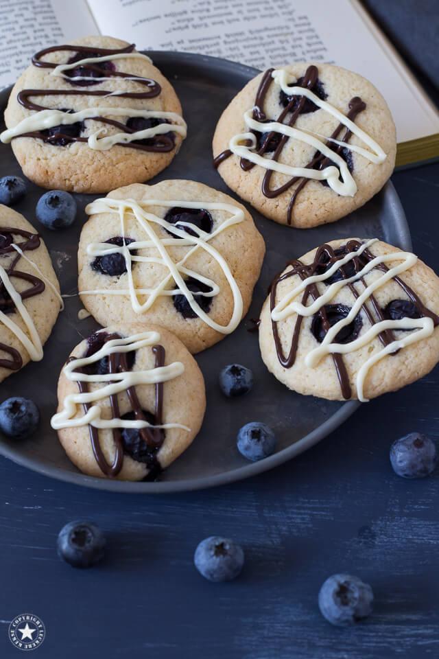 Blaubeeren-Cookies