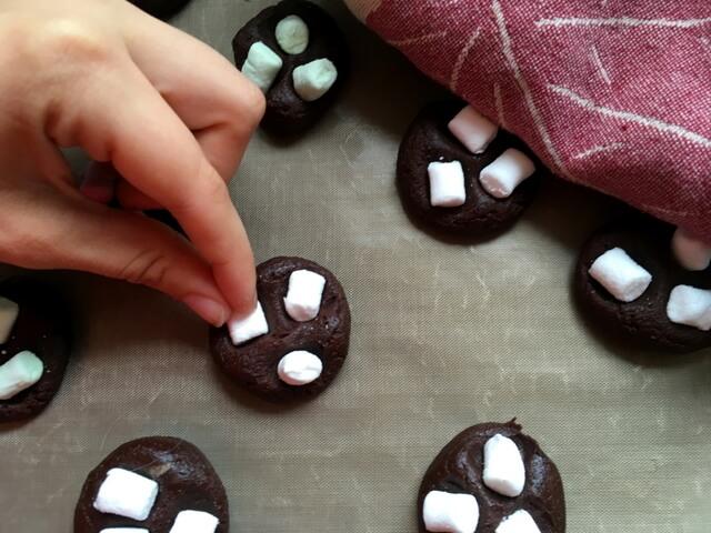 schnelle Kekse mit Marshmallow  Rezept