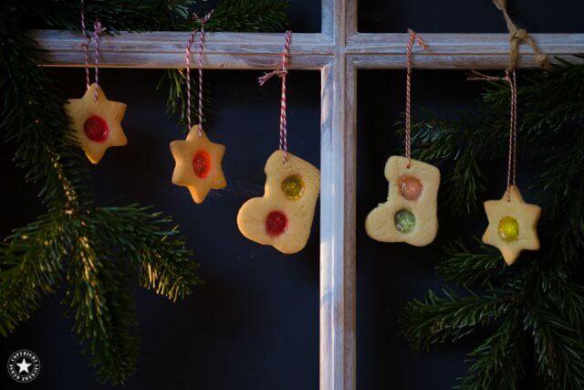 Buntglas-Cookies