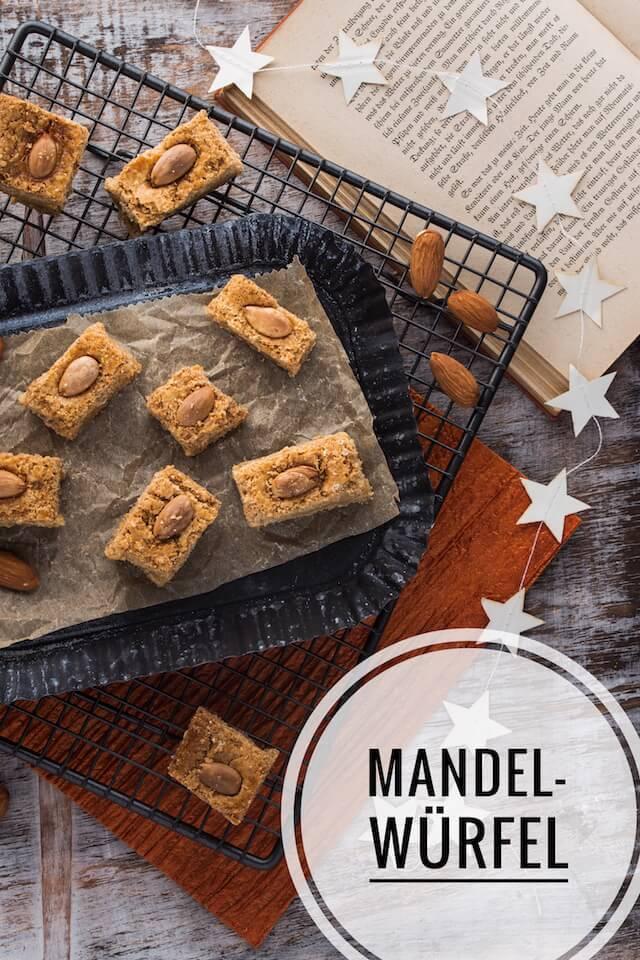 Mandelwürfel mit Marzipan