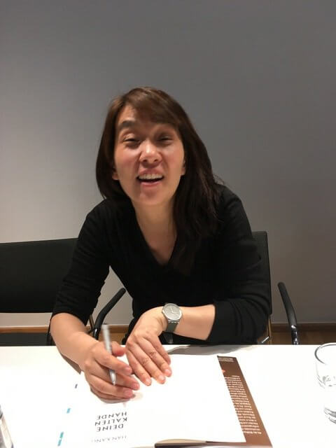 Han Kang signiert , Köln, Literaturhaus, Lesung, deine kalten Hände