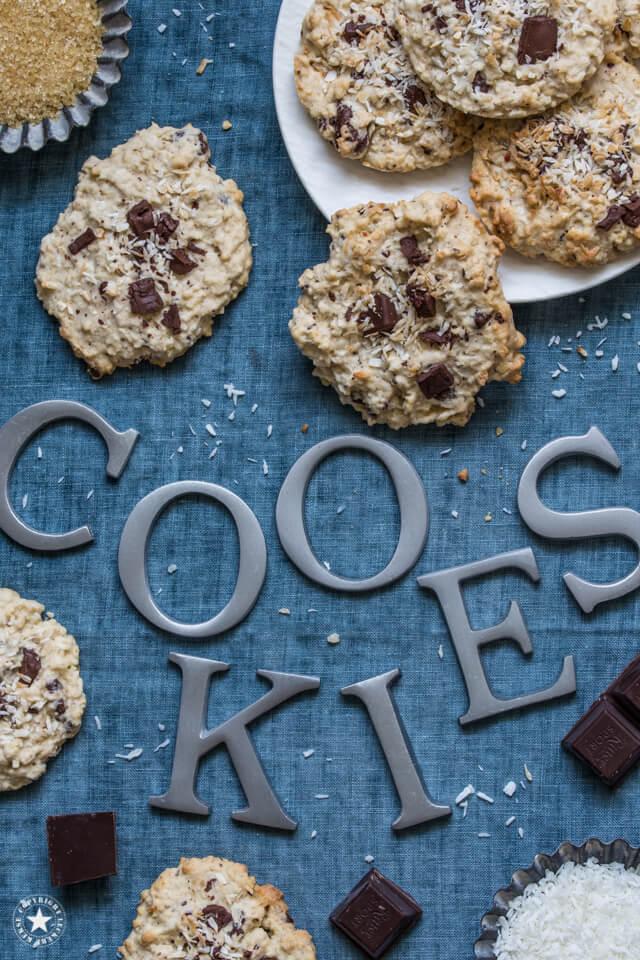 Kokos-Haferflocken-Cookies
