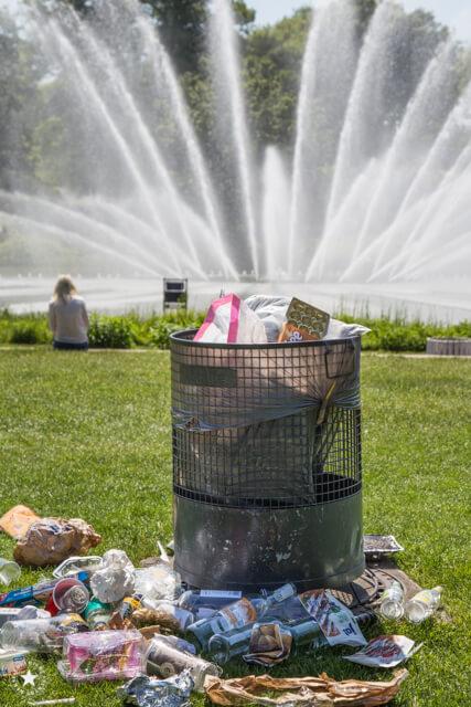 Müll im Hamburger Park