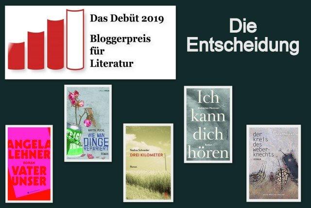Bloggerpreis vom Blog das Debüt 2019, die Entscheidung