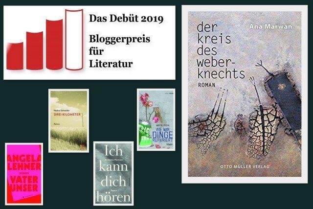 Ana Marwan: Der Kreis des Weberknechts, Debüt 19, Bloggerpreis, Otto Müller Verlag