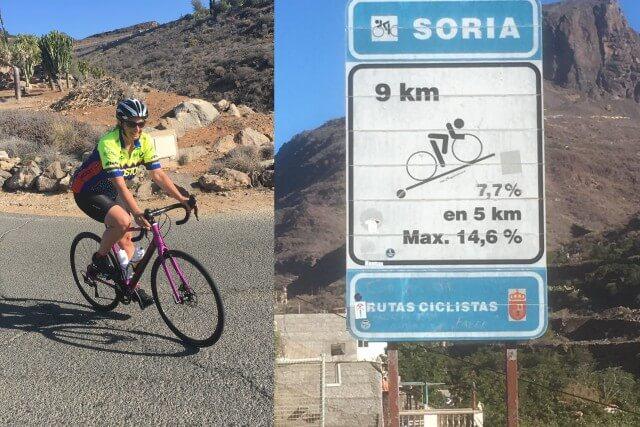 Rafahren auf Gran Canaria, Anstieg Soria