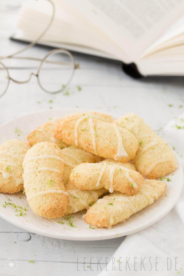 Kekse mit Limetten und Kokos
