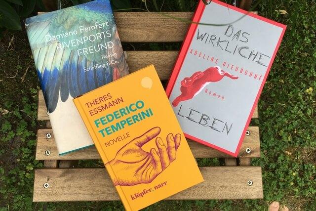 Drei Debütromane: Theres Essmann, Damiano Femfert, Adeline Dieudonné