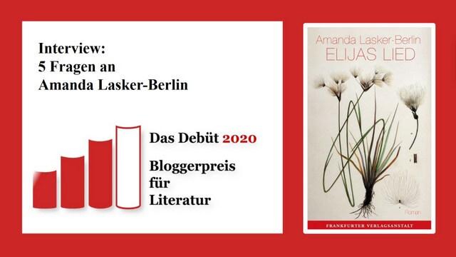 Amanda Lasker-Berlin, Elijas Lied, Frankfurter Verlagsanstalt, Interview mit der Autorin