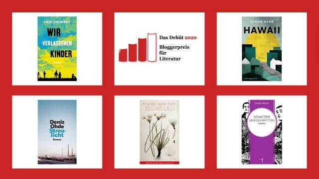 Shortlist für den Bloggerpreis von Das Debüt